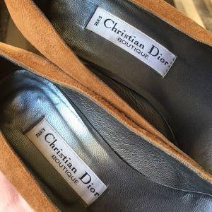 Christian Dior suede heel  vintage